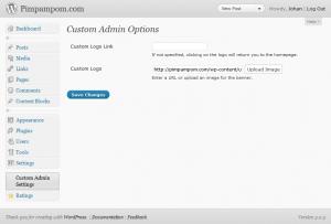 Custom Admin Screenshot